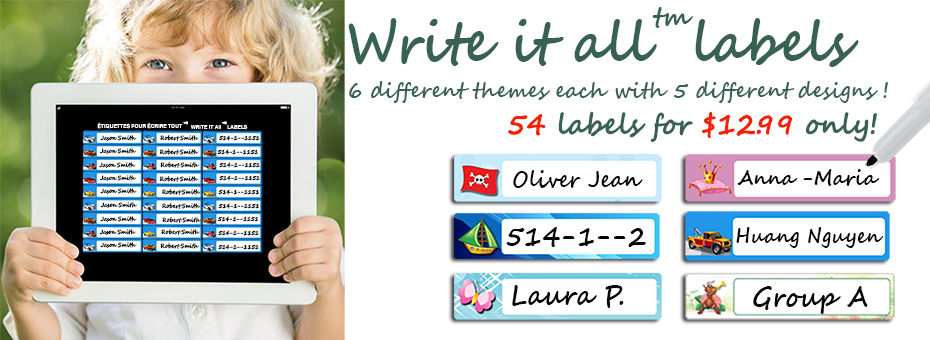Write it all™ labels