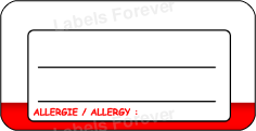 Allergy extra large labels (Blank)